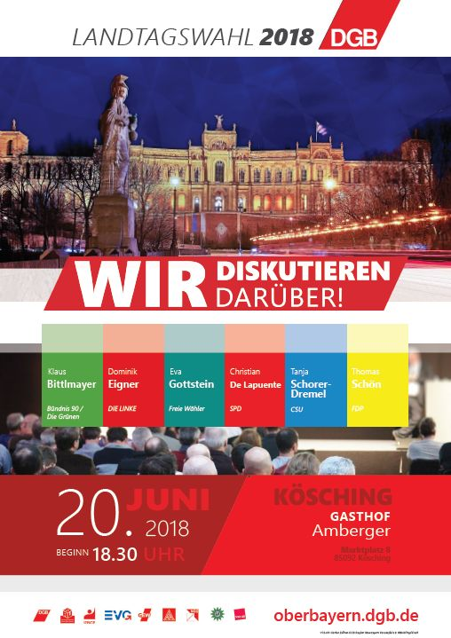 Diskussionsrunde in Kösching