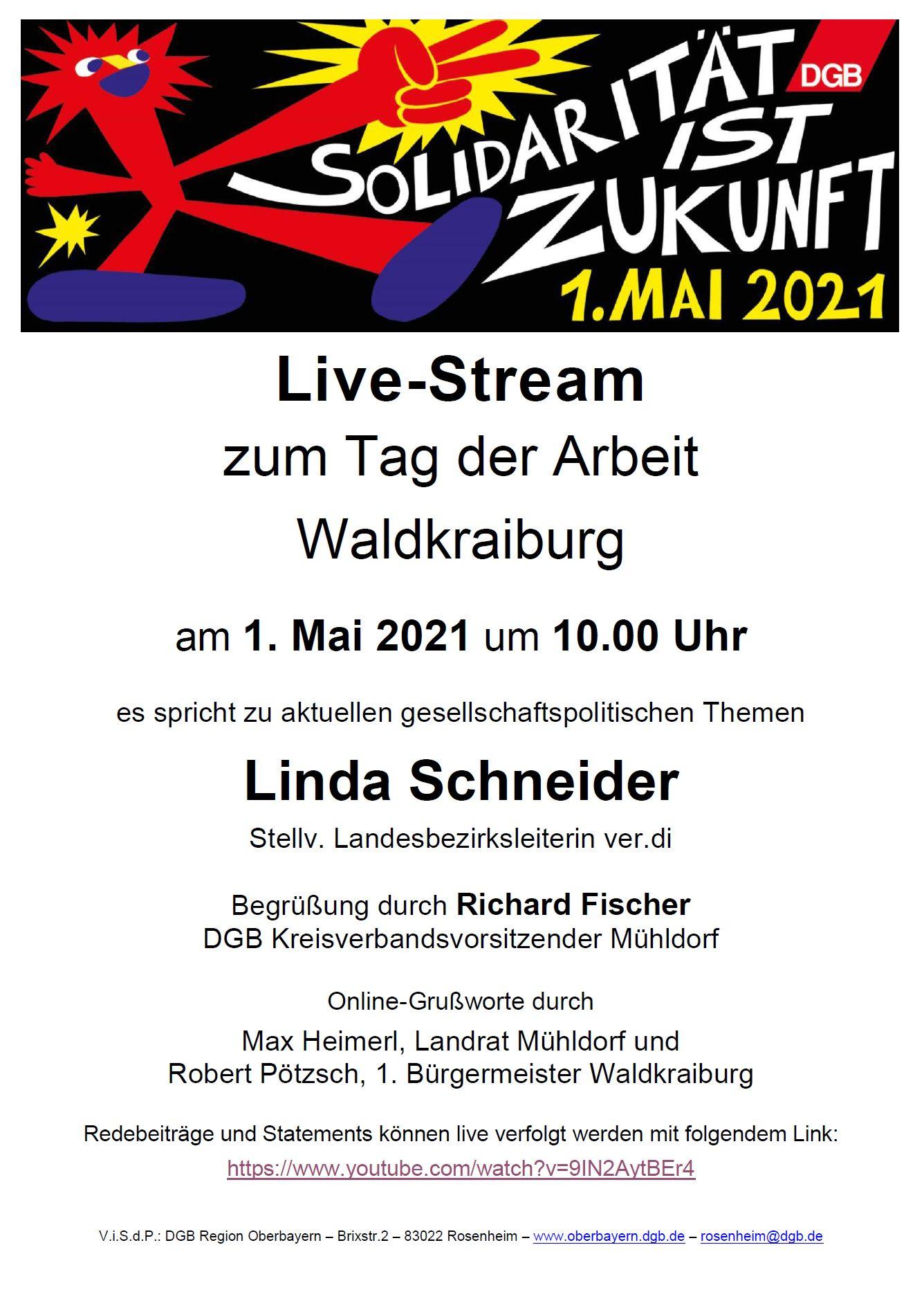 1. Mai 2021 Waldkraiburg