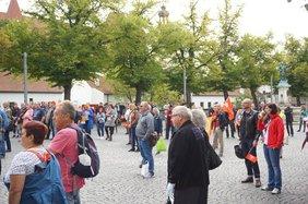 Bild von Bühne auf Rentendemo in Ingolstadt