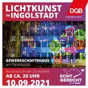 Einladung Aktion Lichtkunst am Paradeplatz in Ingolstadt