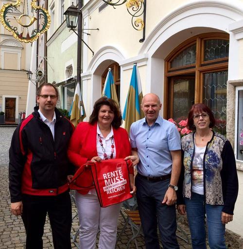 Gespräch mit SPD Annette Heidrich