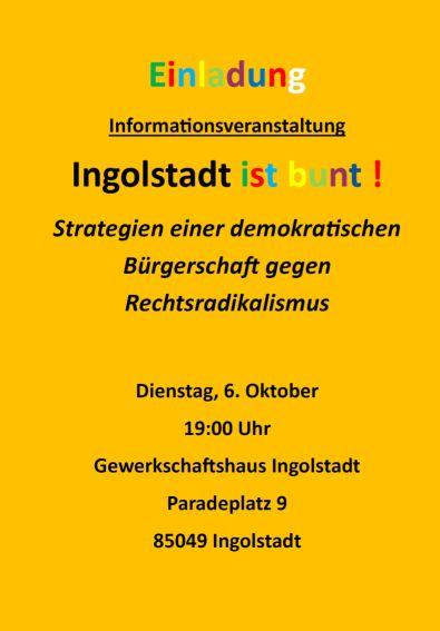 Einladung Ingolstadt ist bunt